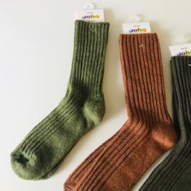 Joha wollen sokken moss melange