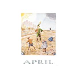 Elsa Beskow Ansichtkaart maand April