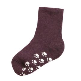 Joha wollen sokken antislip burgundy
