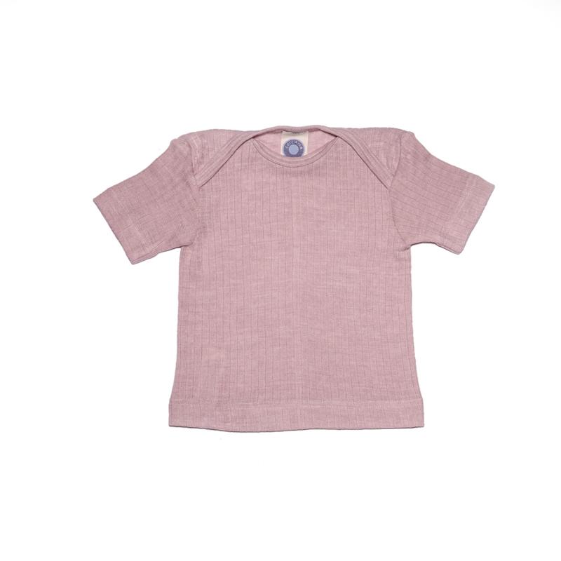 Cosilana wolzijdekatoen hemdje met korte mouw roze