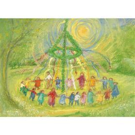 Ansichtkaart Meiboomdans