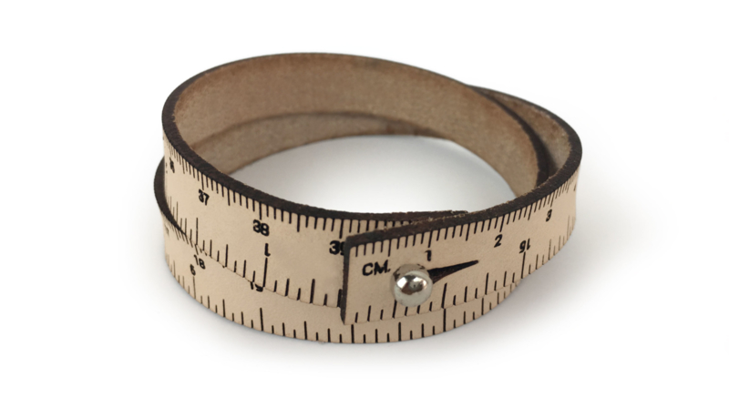 Ilovehandles leather wrist ruler natural