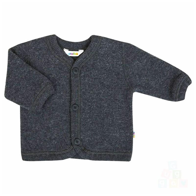 Joha wollen wolfleece vest Charcoal