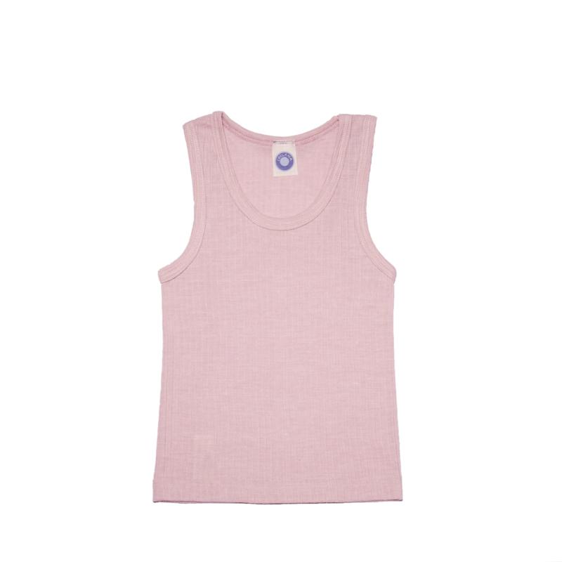 Cosilana wolzijdekatoenen hemd roze