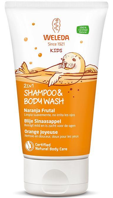 Weleda - Kids 2in1 Shampoo & Body Wash Blije Sinaasappel