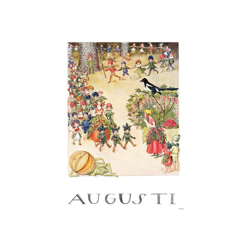 Elsa Beskow Ansichtkaart maand Augustus