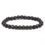 * Powerbead armband Zwart lavasteen