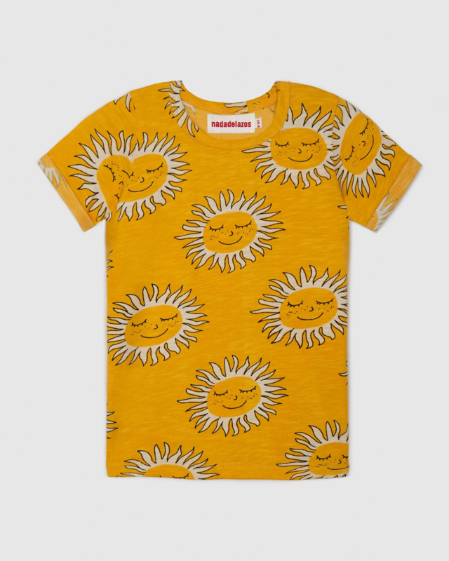 Nadadelazos T-shirt Deep Soul Yellow 3-4 jaar