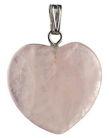 Roze kwarts hangertje hart