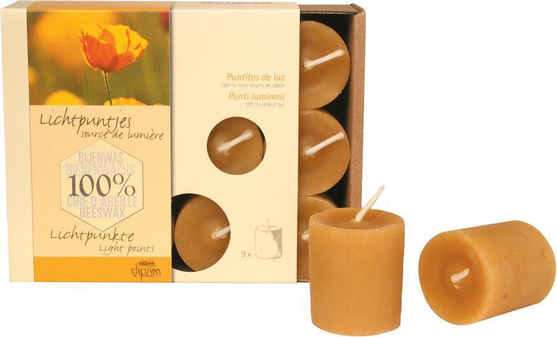 Dipam bijenwas lichtpuntjes, 9 stuks