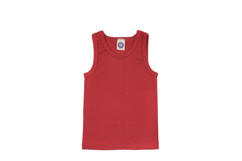 Cosilana wolzijden hemd rood