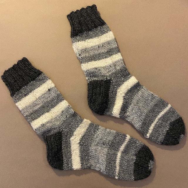 Villa Knits Wollen Sokken handgebreid grijzig, 32-34