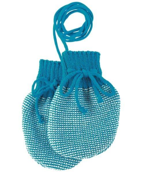 Disana wollen wantjes voor baby's blauw melange