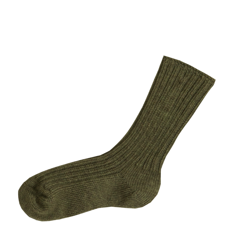 Joha wollen sokken donkergroen melange volwassenen