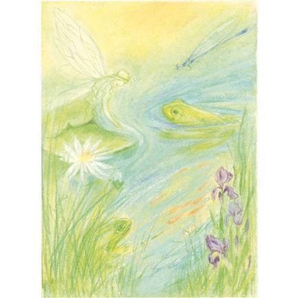 Marjan van Zeyl - Ansichtkaart waterelf met pad