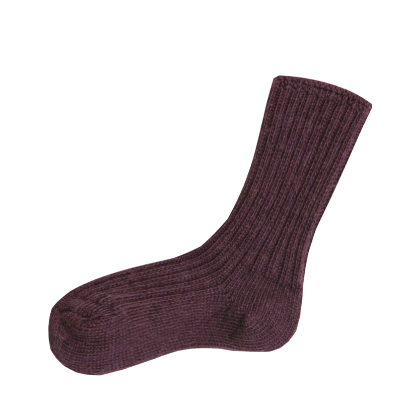 Joha wollen sokken aubergine melange