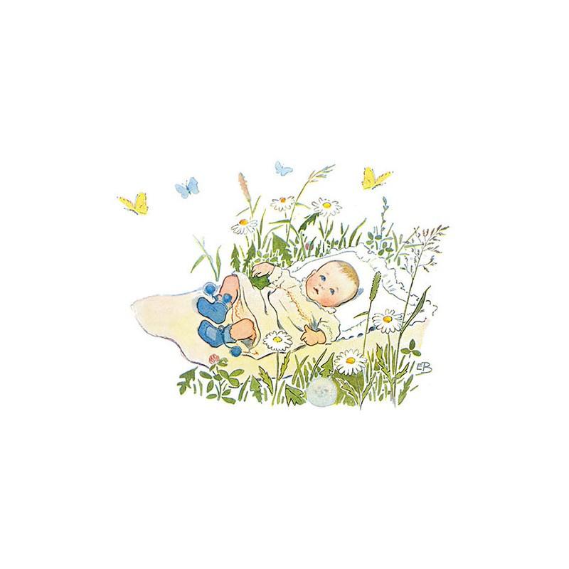 Elsa Beskow Ansichtkaart Baby
