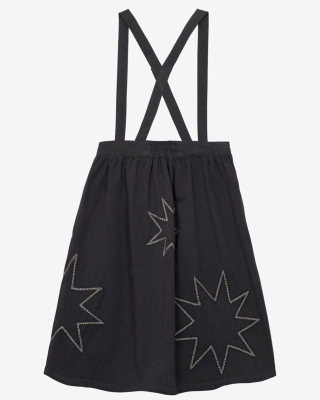 Nadadelazos woman Suspender Skirt Black Stars