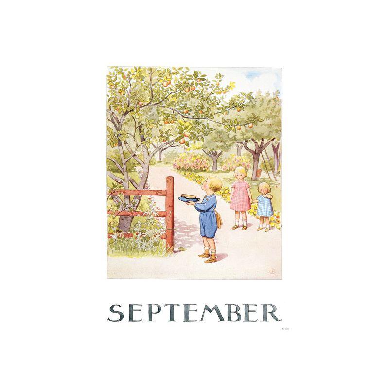 Elsa Beskow Ansichtkaart maand September