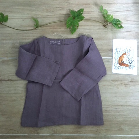 Simply Grey Kids linnen top dusty purple