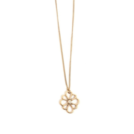 A&C Collier Vintage Flower, bronze