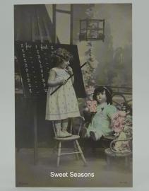 Vintage kaart, enkel, nr. 347