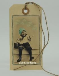 Vintage cadeaulabel, nr. 198