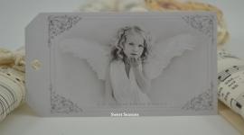 Cadeaulabel meisje als engel