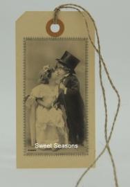 Vintage cadeaulabel, nr. 195