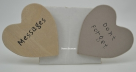 Houten hartje Messages