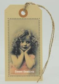 Vintage cadeaulabel, nr. 178