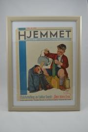 Schilderij Hjemmet: jongen met zieke hond