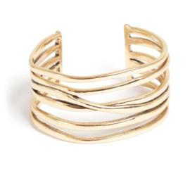 A & C Cuff (armband) Ocean Blue, bronze