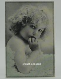 Vintage kaart, enkel, nr. 375