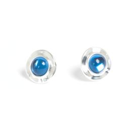 A & C Oorbel Ocean Blue, silver