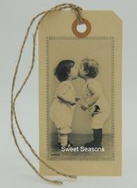 Vintage cadeaulabel, nr. 185