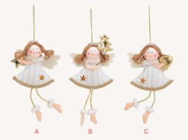 Hangende engeltjes, stof, 3 ass. (W22)