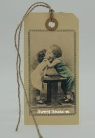 Vintage cadeaulabel, nr. 199