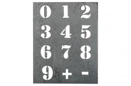 Sjabloon cijfers, groot