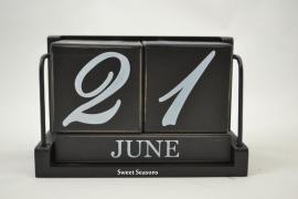 Kalender kubus, zwart