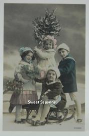 Vintage kaart, enkel, nr. 8016