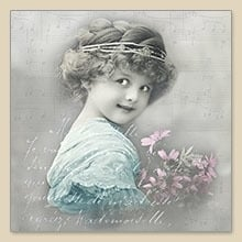 Servet Turquoise girl, 33x33 cm, nr. 80030