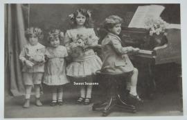 Vintage kaart, enkel, nr. 8019