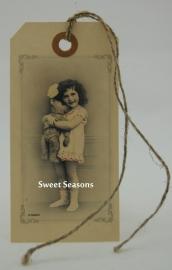 Vintage cadeaulabel, nr. 158