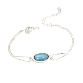 A&C Armband Glass Drop Blue