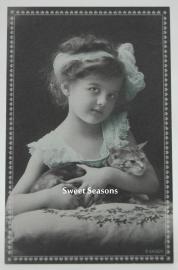 Vintage kaart enkel, nr. 392