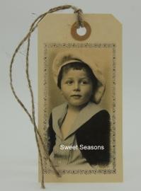 Vintage cadeaulabel, nr. 177