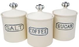 Voorraadpot coffee, sugar, salt