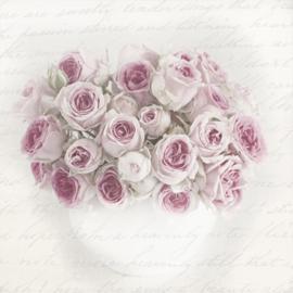Servet Pink roses in vase, 33x33 cm, nr. 80062