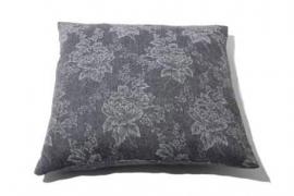 Kussen `Grey flowers`